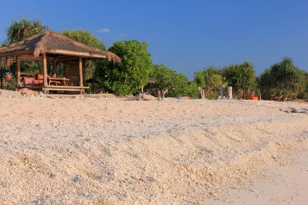 Gili Meno - plaża po zachodniej stronie wyspy