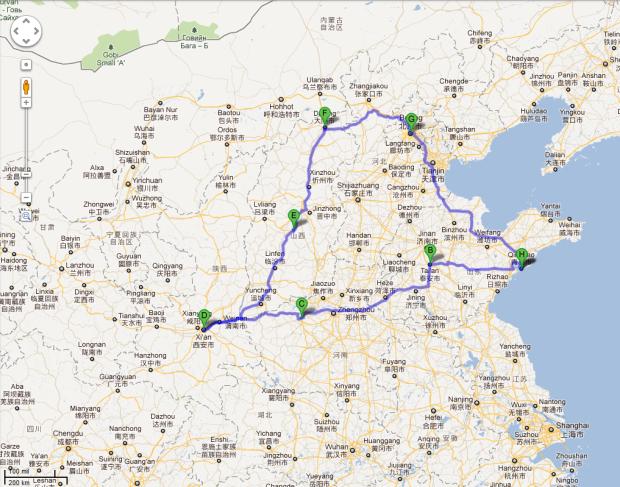 Plan podróży Chiny 2012