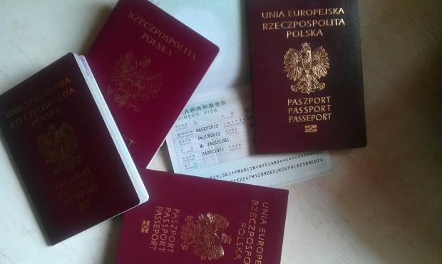 Nasze paszporty z chińskimi wizami
